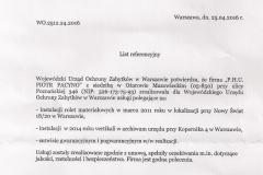 Referencje Mazowiecki Wojewódzki Konserwator Zabytków